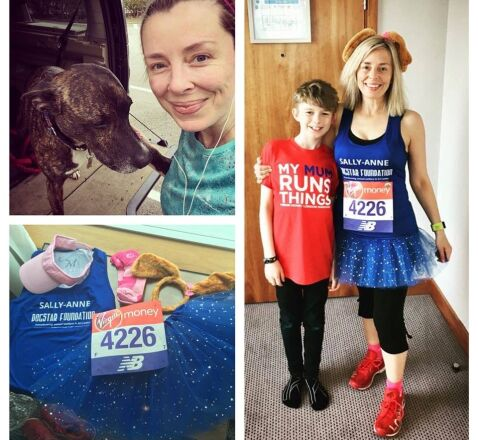 sllay-anne london marathon running for dogstar foundation